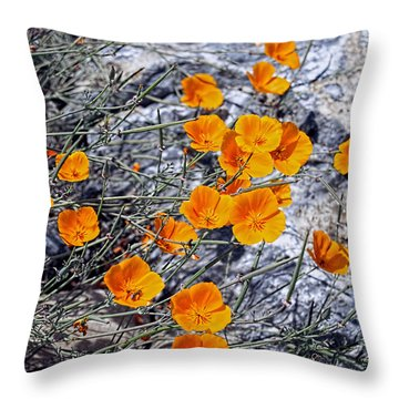 Throw Pillow featuring the photograph California Poppies by William Havle