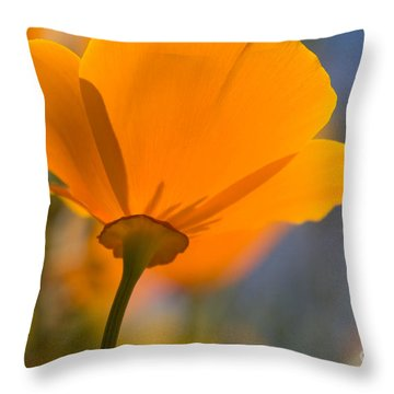 Throw Pillow featuring the photograph California Poppy by Chris Scroggins