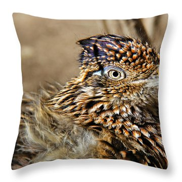 California Roadrunner Throw Pillow