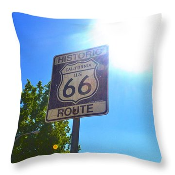 Throw Pillow featuring the photograph California Route 66 by Utopia Concepts