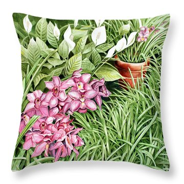 California Sidewalk Throw Pillow by Debbie Hart