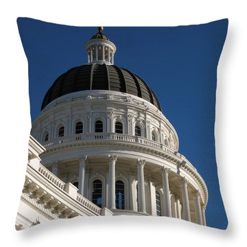 California State Capitol Dome Throw Pillow