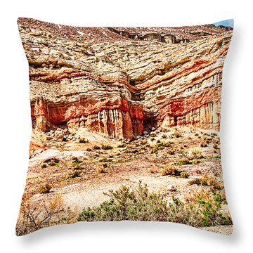 California State Parks Red Rock Canyon Throw Pillow