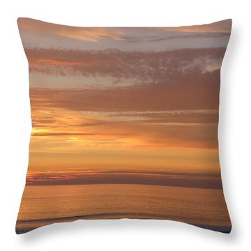 California Sunset Throw Pillow by Charles Ables
