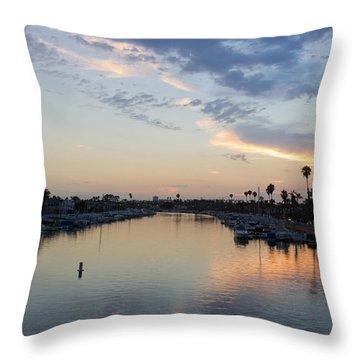 California Sunset Throw Pillow by Heidi Smith