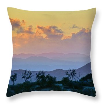 Throw Pillow featuring the photograph California Sunset by Martin Konopacki