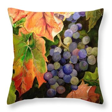 California Vineyards Throw Pillow