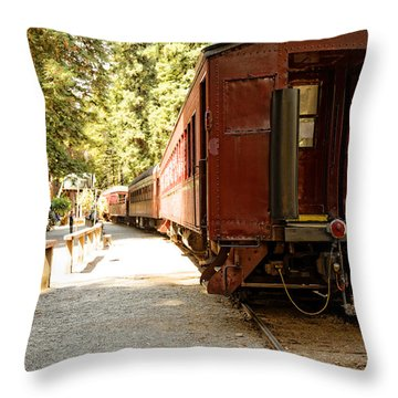 California Western Railroad Throw Pillow