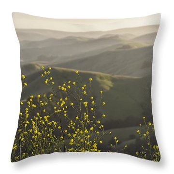 Throw Pillow featuring the photograph California Wildflowers by Steven Sparks