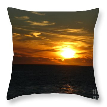 California Winter Sunset Throw Pillow by Mini Arora