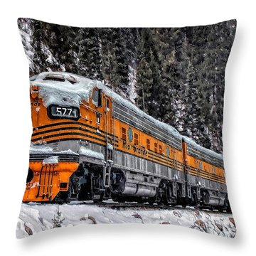 California Zephyr Throw Pillow by Ken Smith