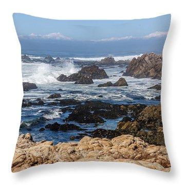 Throw Pillow featuring the photograph Californian Coastline by Susan Leonard