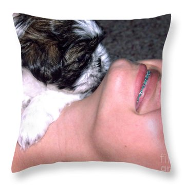 Call It Puppy Love Throw Pillow by Ella Kaye Dickey