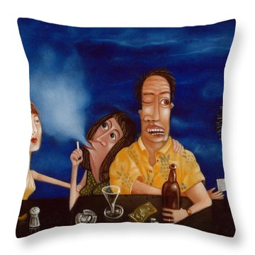 Call Me 1995 Throw Pillow by Larry Preston