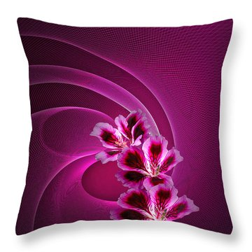 Throw Pillow featuring the photograph Call Me Pink by Judy  Johnson