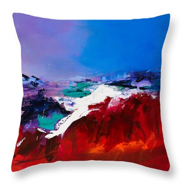 Call Of The Canyon Throw Pillow by Elise Palmigiani