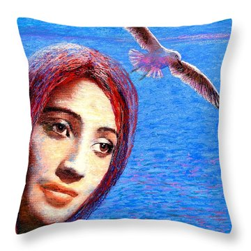 Call Of The Deep Throw Pillow by Jane Small