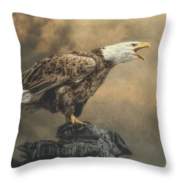 Throw Pillow featuring the photograph Call Of The Wild by Brian Tarr