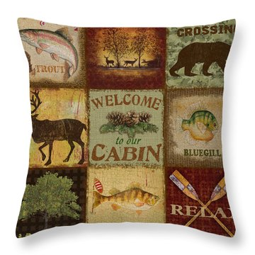 Call Of The Wilderness Throw Pillow by Jean Plout