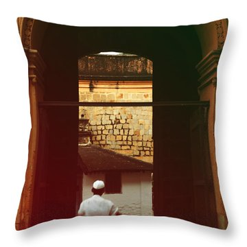 Throw Pillow featuring the photograph Call To Prayer by Mini Arora