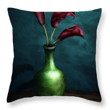 Calla Lilies I Throw Pillow