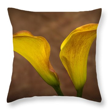 Throw Pillow featuring the photograph Calla Lilies by Sebastian Musial