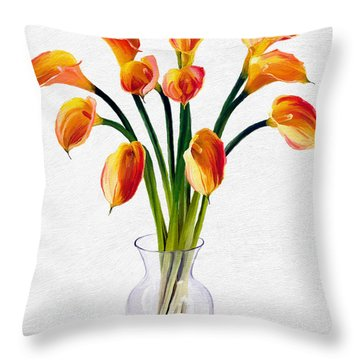 Calla Lillies Throw Pillow