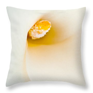 Calla Lilly Throw Pillow by Bill Gallagher