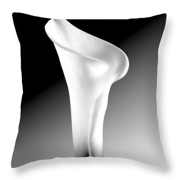 Calla Lily Bw Throw Pillow