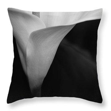 Calla Lily Corner Throw Pillow