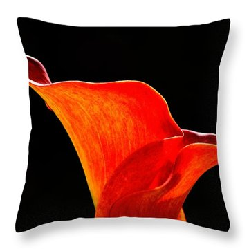 Calla Lily High Contrast Throw Pillow by Scott Lyons