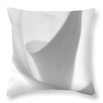 Calla Lily Throw Pillow by Jonathan Nguyen