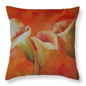 Calla Lily Throw Pillow by Tamyra Crossley
