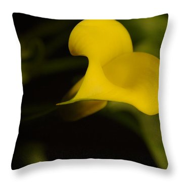 Calla Lily Yellow IIi Throw Pillow