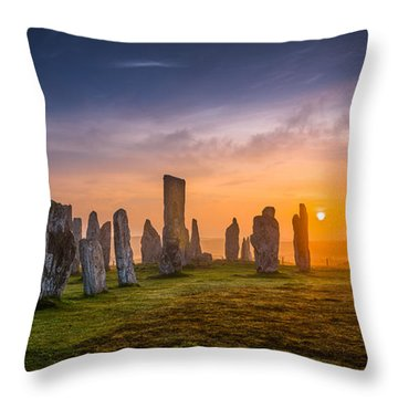 Callanish Dawn Throw Pillow