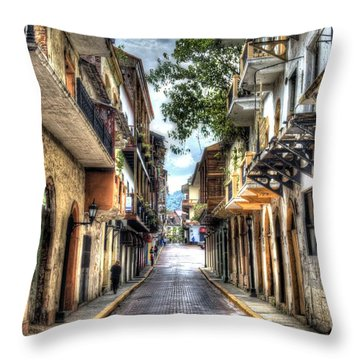 Calle 8a Este Throw Pillow