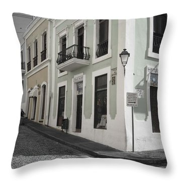 Calle De Luna Y Calle Del Cristo Throw Pillow