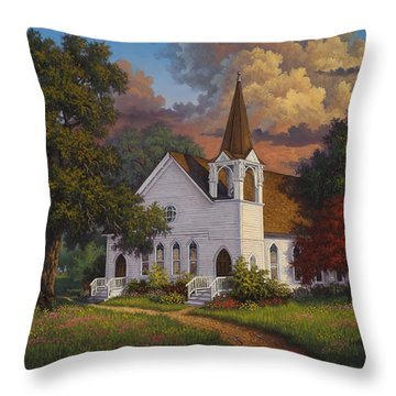 Throw Pillow featuring the painting Called To Praise by Kyle Wood