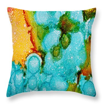 Throw Pillow featuring the painting Calm by Angela Treat Lyon