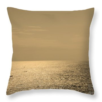 Calm Arabian Sea Throw Pillow by Mini Arora