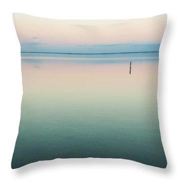 Calm As Is Throw Pillow by Jurgen Lorenzen