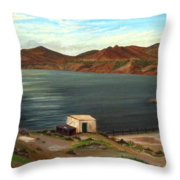 Calm Bay Throw Pillow