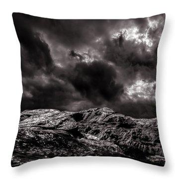 Calm Before The Storm Throw Pillow by Bob Orsillo