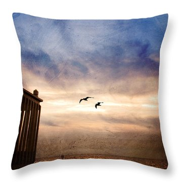Calm Throw Pillow by Beverly Stapleton