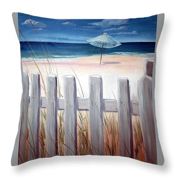 Calm Day At The Seashore Throw Pillow
