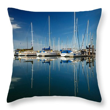 Calm Masts Throw Pillow