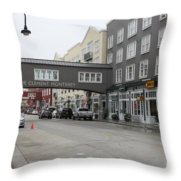 Calm Morning At Monterey Cannery Row California 5d24762 Throw Pillow