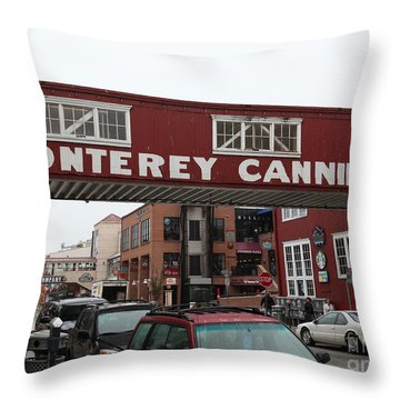 Calm Morning At Monterey Cannery Row California 5d24763 Throw Pillow