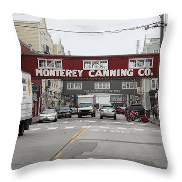 Calm Morning At Monterey Cannery Row California 5d24773 Throw Pillow