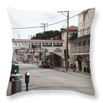 Calm Morning At Monterey Cannery Row California 5d24777 Throw Pillow